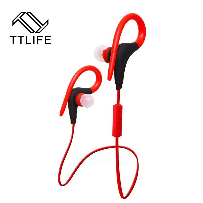 TTLIFE New Brand Bluetooth 4.1 Earphone Wireless Headphone Sport Running Stereo Earphone With Mic For iphone Phone