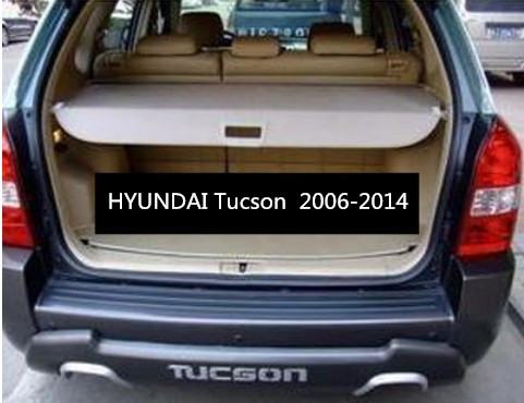 Car Rear Trunk Security Shield Cargo Cover For HYUNDAI Tucson 2006-2014 High Qualit Black Beige Auto Accessories car rear trunk security shield shade cargo cover for toyota highlander 2009 2010 2011 2012 2013 2014 2015 2016 2017 black beige