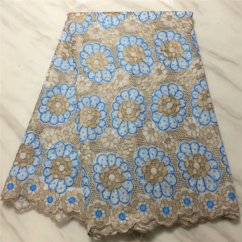 2018 African Dry Lace Fabrics High Quality Cotton Lace Fabric Swiss Voile With Stone Swiss Voile Lace In Switzerland pl4-95