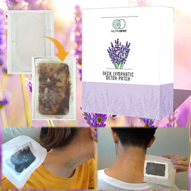 US $1 89 |10 patches/Box Nutrispot Neck Lymphatic Detox Patch Anti Swelling  Herbal LymphPads Detox Foot Patches Pads To Improve Sleep-in Feet from