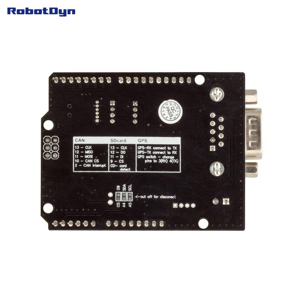 Image 2 - יכול אוטובוס מגן. תואם עבור Arduino. MCP2515 (יכול בקר) ו MCP2551 (יכול משדר). GPS להתחבר. MicroSD כרטיס קורא.shield for arduinoshield arduinoshield gps -