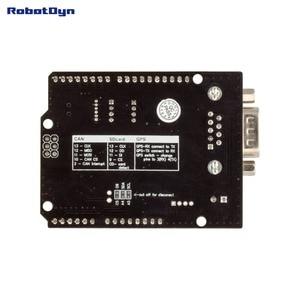 Image 2 - Щит CAN BUS. Совместим с Arduino. MCP2515 (CAN controller) и MCP2551 (CAN приемопередатчик), Подключение GPS. Устройство для чтения карт MicroSD.