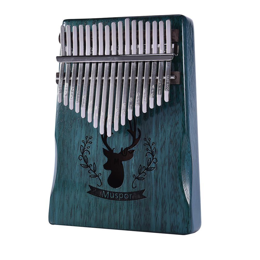 17 schlüssel Kalimba Mbira Calimba African feste Mahagoni Daumen Klavier Finger Rentier Tasche Weihnachten Instrument Geschenk Für Musik Liebhaber