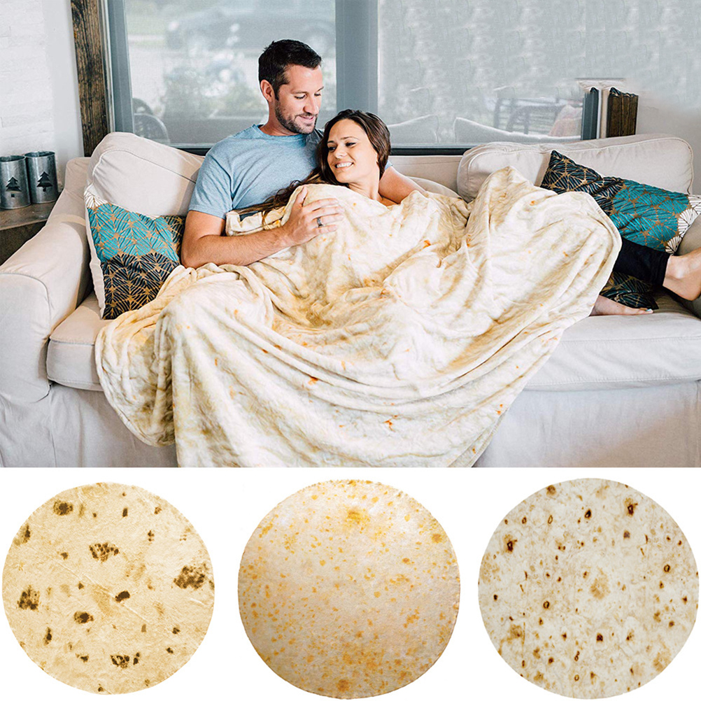 1pc Tortilla Blanket Quick Dry Mexican Style Soft Flannel Fuzzy Towel Blanket Beach Towels for Adults Kids Women image