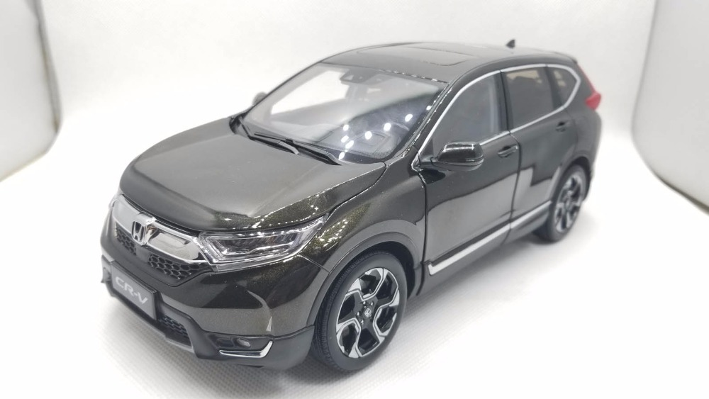 1:18 Diecast Model for Honda CR-V 2017 Dark Green SUV Alloy Toy Car Miniature Collection Gifts CRV CR V