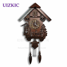 Little cuckoo clock modern design /hour clock, wooden wall clock chimes clock/engraving for kids room decoration