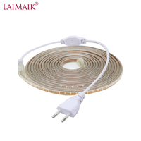 LAIMAIK 40M 50M 60M 100M LED Strip 220V AC Waterproof 120LEDs/M SMD3014 Garden Outdoor lights Holiday Christmas Deccoration lamp