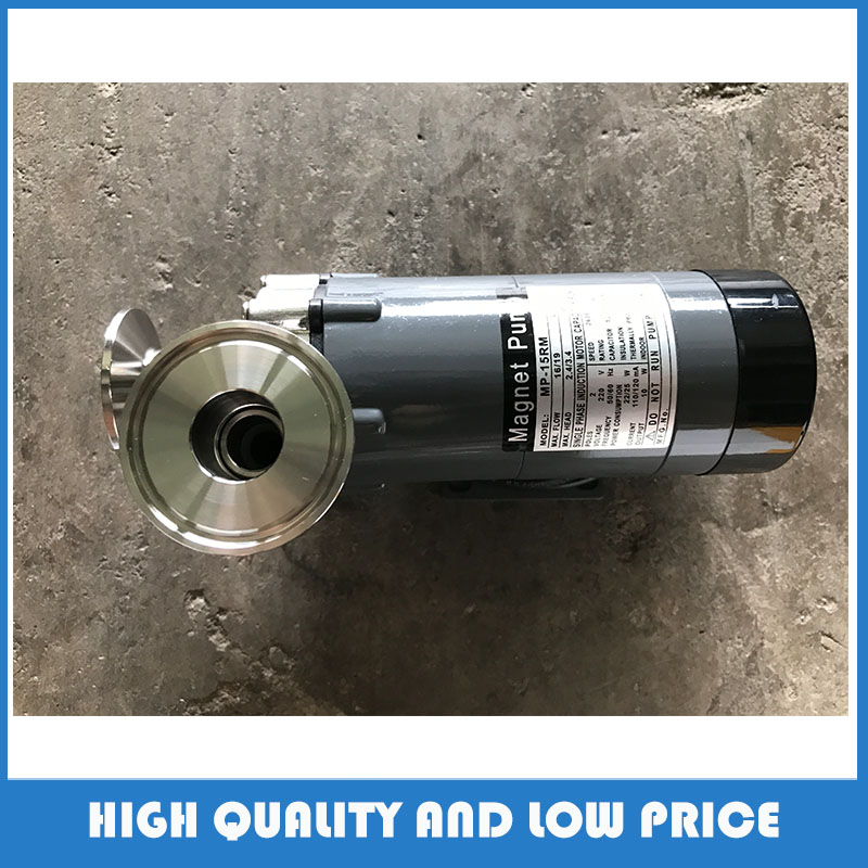 Pompe de circulation de tête d'acier inoxydable de la pompe 15R de propulseur de catégorie comestible pour la bière brassée