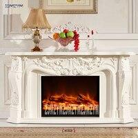 8080 リビングルームの装飾暖房暖炉 W148cm 木材電気暖炉の棚挿入光学 LED 炎人工