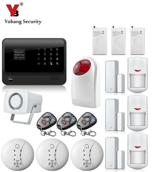 Yobang Security-WIFI Door gap sensor Internet GSM Alarm System Home Alarm Security outdoor flash siren Detector Sensor image
