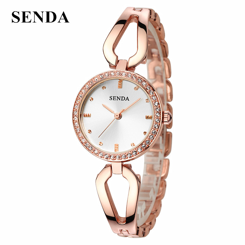 SENDA Top Brand Luxury Quartz Wrist Watch Bracelet Reloj Mujer Women Watches Ladies Female Clock Montre Femme Relogio Feminino mjartoria ladies watches clock women quartz watch simple sport bracelet watch student girl female hand wrist watches for women