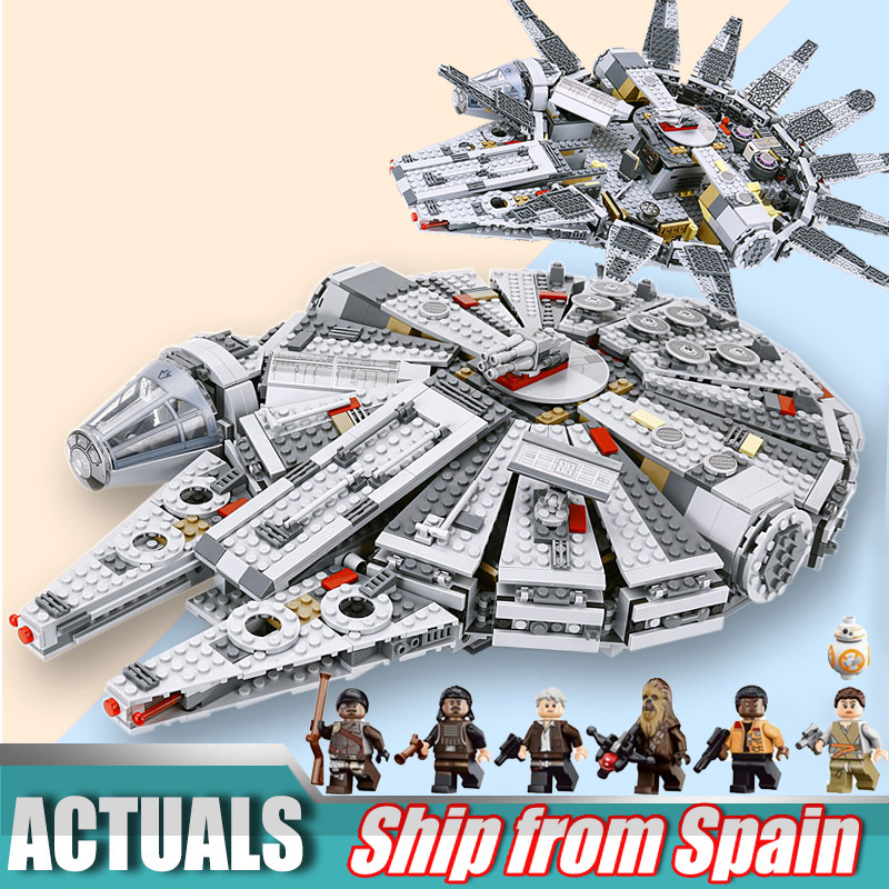 MILLENNIUM Model 05007 1381PCS building blocks Force Awakens Star Wars Bricks toys for Kids Compatible 75105