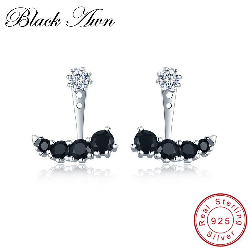 [BLACK AWN] 925 Sterling Silver Jewelry Female Boucle D'oreilles Cute Stud Earrings For Women I009