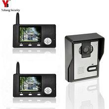 Buy online YobangSecurity 2.4G 3.5″LCD Wireless Video Door Phone Doorbell Video Door Entry System Peephole Viewer Camera 1 camera 2 Monitor