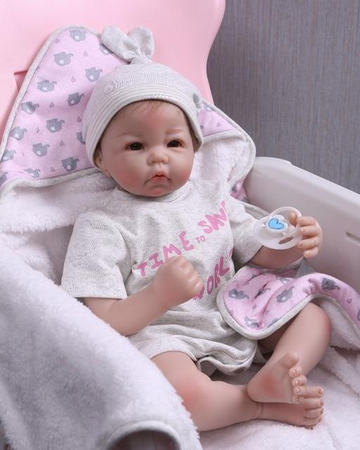Reborn Doll Toys Soft Silicone Baby Bonecas Cute baby 2