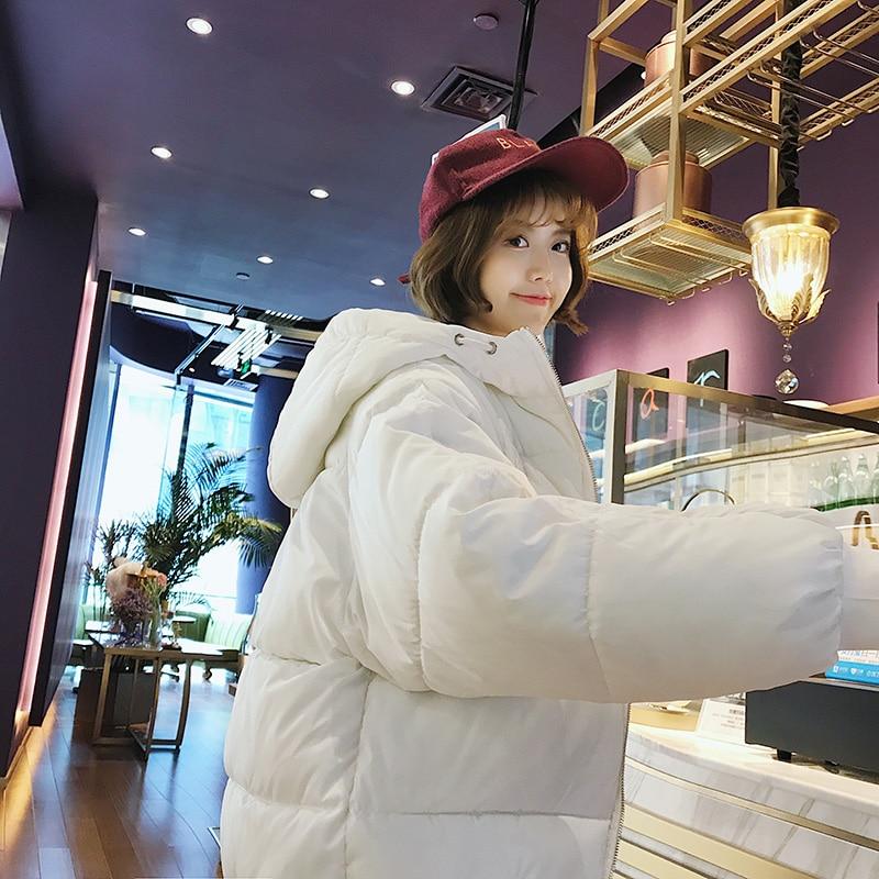 Coat Thicken Solid Winter Black Femme Jacket Warm Vetements 2018 Mujer Women Size Cotton Guuzyuviz white Hiver Plus gray Boyfriend Casual 0BBP8