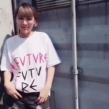 2017 HooltPrinc fashion tee women men t-shirt new style letter print tshirt band clothing high quality 100cotton white shirt
