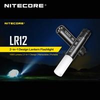 رائجة البيع Nitecore LR12 2 في 1 تصميم كري XP-L HD V6 LED 1000 لومينز قابل للسحب مصباح محمول مصباح يدوي