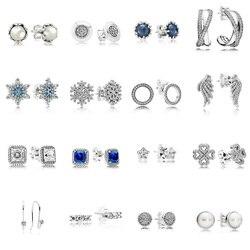 16 стильные серьги из стерлингового серебра 925 пробы с крыльями, снежинка, жемчуг, с полным кристаллом, серьги для женщин, свадебные украшения...