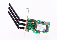 300Mbps PCI E WiFi Wireless Network Card Adapter 3 Antenna For Desktop Laptop PC