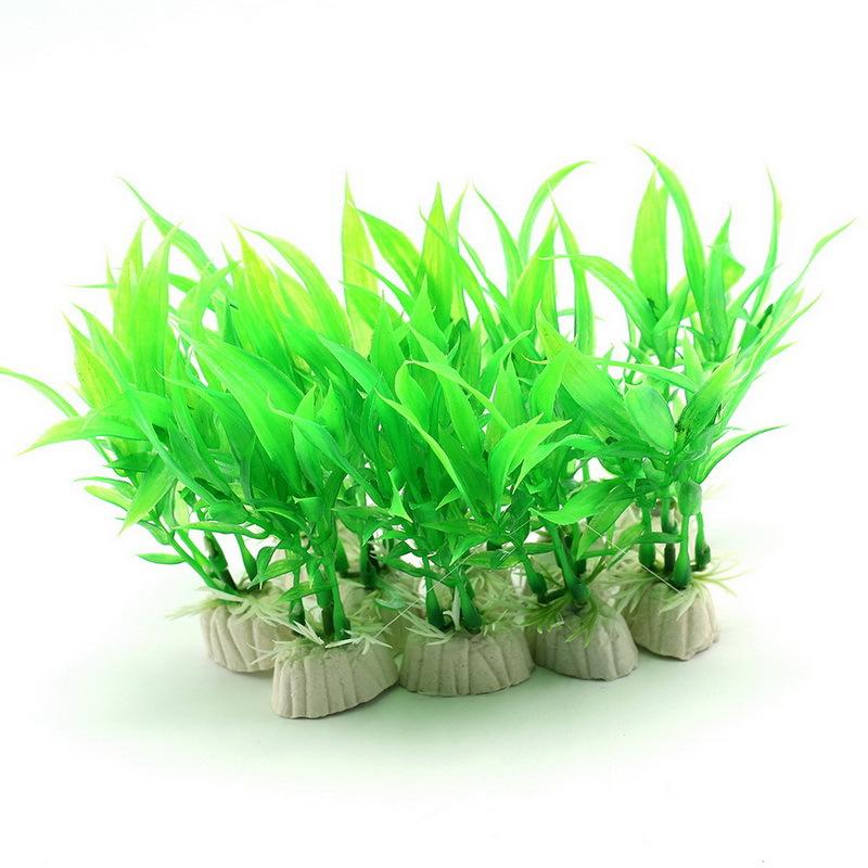 unidslote plantas plantas de acuario de plstico decoracin fish tank hierba ornamento