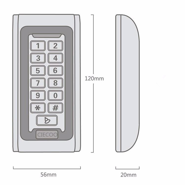 keypad size