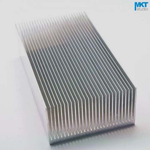 5Pcs 130x69x36W Pure Aluminum Cooling Fin Radiator Heat Sink