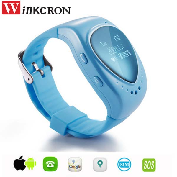 Mini GPS tracker A6 phone watch for kids child children gps bracelet google map, sos button, free apps gsm gps locator