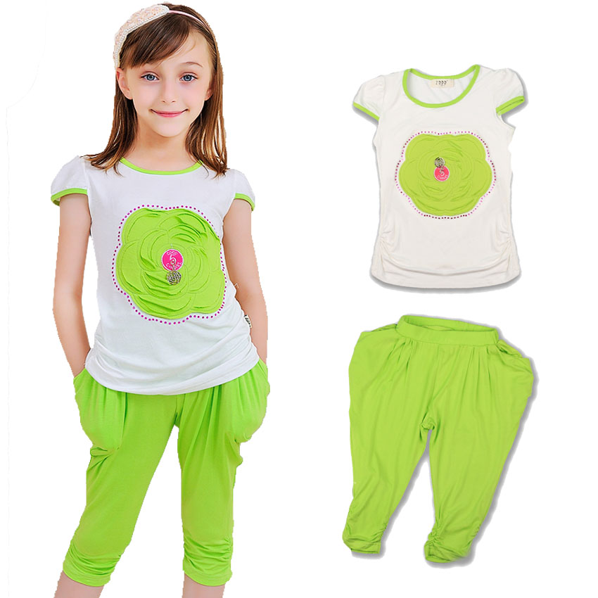 Kids Tracksuit Cotton Casual Summer Girls Clothing Set Sports Suit For Girls Goods Quality Casual Children Clothing Baby Clothes