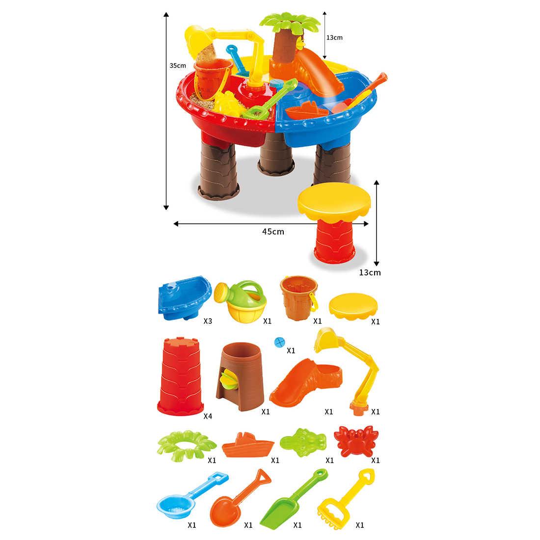 22 шт./компл. детская песочница комплект песчаный пляж стол воды подвижных игр на свежем воздухе воды играть песок инструмент для детей дети играют дома