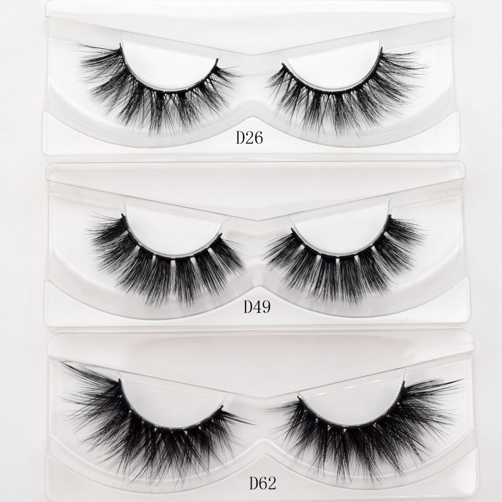 visofree silk 3D lashes faux mink eyelashes full strip lashes handmade crisscross thick fa