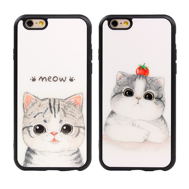 Cute Cartoon Cat Silicon Case For Iphone