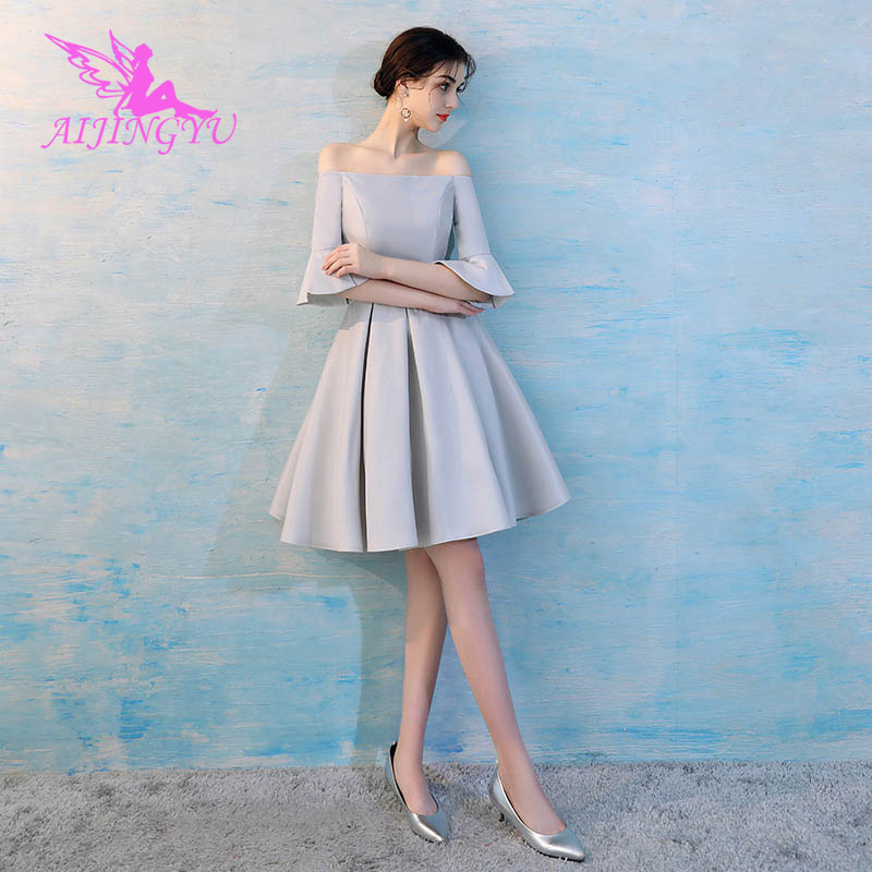 AIJINGYU 2018 new sexy elegant   dress   women for wedding party   bridesmaid     dresses   BN110