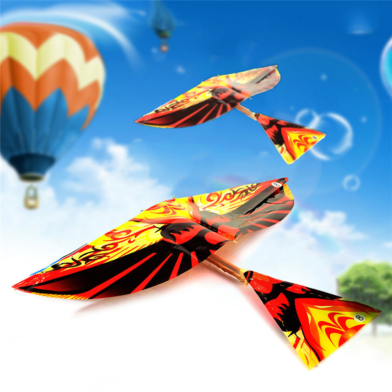 Colorful Rubber Band Powered Flying Birds Toyss