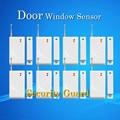Envío Libre Sistema de Alarma de Seguridad Antirrobo Inalámbrica Sistema de Alarma Ventana detector Magnético de la puerta 433 MHz 8 unids