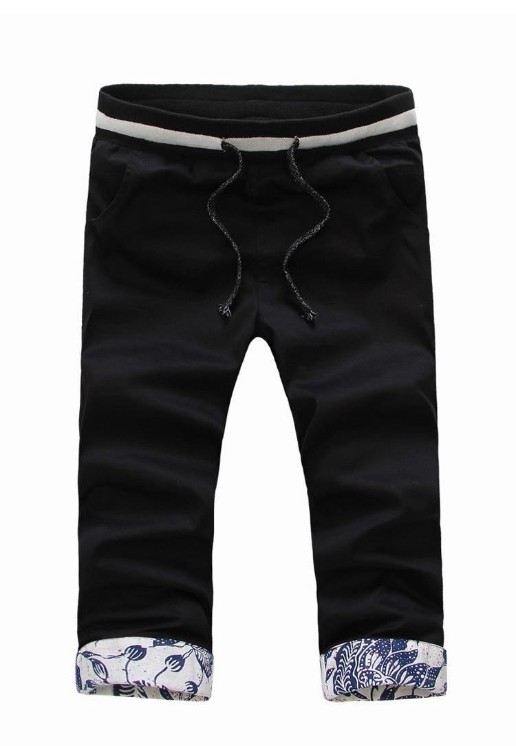 Online Shop bape slim fit floar leisure sport bandana capri pants ...