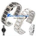 16mm 18mm 20mm branco ou preto relógio de pulseira de cerâmica e aço inoxidável pulseira watch band strap butterfly fivela pulseira