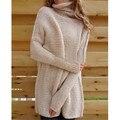 Женщины Свитер Вязаный Плюс Размер Мохер С Длинным Рукавом Пуловер Женщины Зима Теплая Случайные Широкие Одежды EBA127