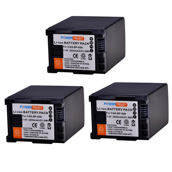 3Pcs 7.4V 2900mAh BP-828 BP 828 BP828 Camera Battery for Canon HFS30 HF20 HG20 G30 G40 XA20 XA25 HFM300 HFM30 HFG30 HFG10 HFM40