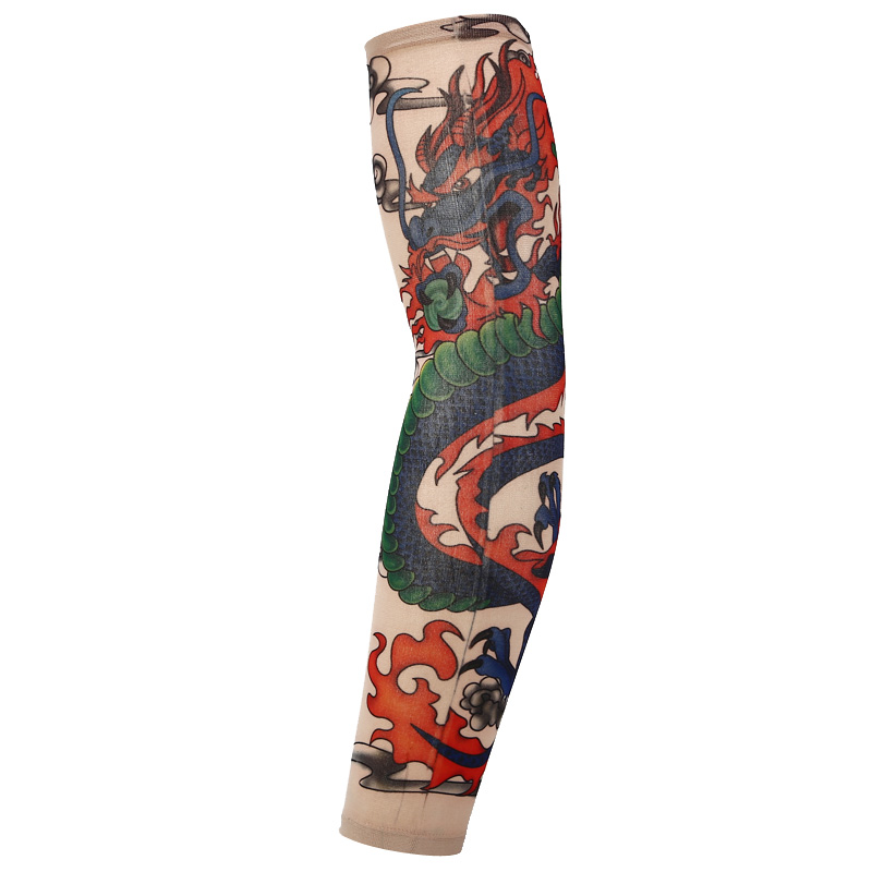 Chinese Dragon Tattoo Sleeves Arm Warmer Unisex Uv Protection Outdoor Temporary Fake Tattoo Arm Sleeve Warmer Sleeve Mangas