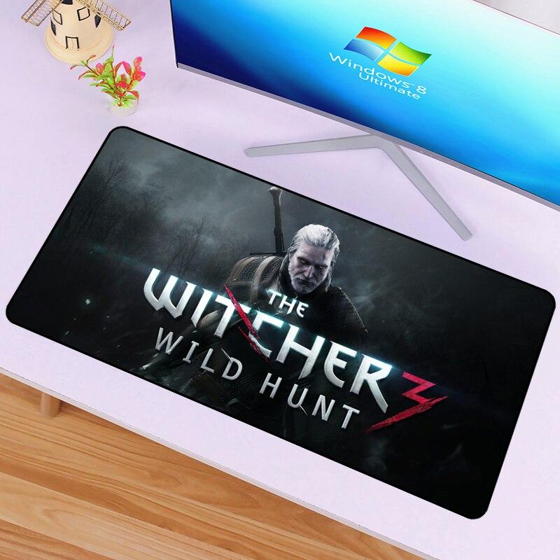 60x30 cm The Witcher 3 Caça Selvagem Mouse Pad Personalizar DIY de Borracha Padrão de Computador Ratos Mat Mousepad Gaming tapete de rato