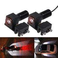 Car/Motorcycle LED Decorative Light Welcome Emergency Signal Wings Lamp Projector Shadow Lighting Fog Warning Light