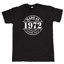 Made in 1972 Mens Funny T Shirt, Gift for Him Dad Grandad Birthday New T Shirts Funny Tops Tee New Unisex Funny Tops Black Style цены