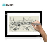 Huion 17.7 Inches LED Artcraft Adjustable Lightness Tracing Tattoo Quilting Light Pad Light Box with USB cable - L4S
