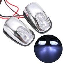 1 пара стайлинга автомобилей Универсальный светодиодный светильник