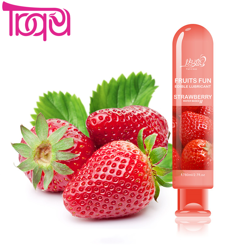 Strawberry water based lubricant vagina anal sex lube gay lubricante adult oil oral sex toys sexual massage oil products hot banana personal lubricant gel lube edible oral sexy enhancement massage oil 30ml hty07