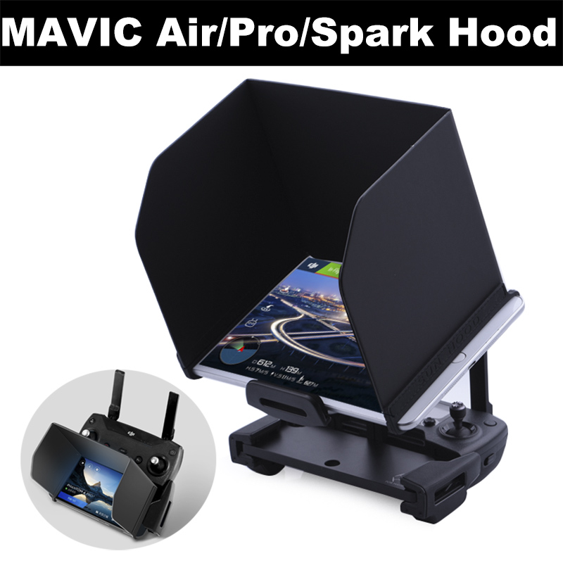 Phone Tablet SunShade for DJI Mavic Pro Air Spark Phantom 4 3 Mavic 2 Pro Zoom Drone Remote Control Folding Hood Sun Hood Shade dji phantom 4 tablet sunshade 7 9 ipad mini sun hood light barrier for dji phantom 3 inspire 1 fpv 100