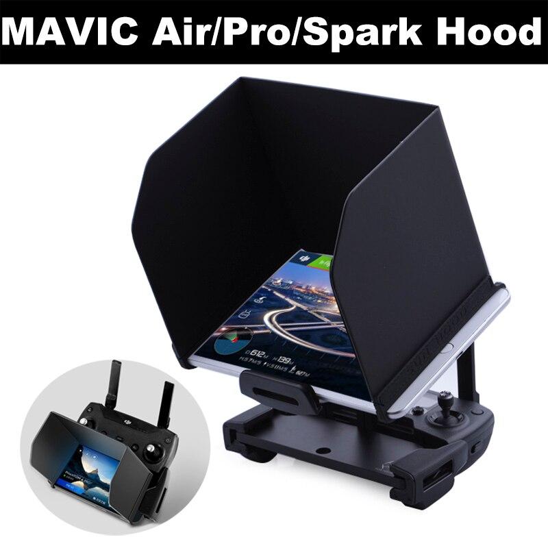 Téléphone Tablet Parasol pour DJI Mavic Pro Air Spark Phantom 4 3 Mavic 2 Pro Zoom Drone Télécommande Pliage capot Pare-Soleil Ombre