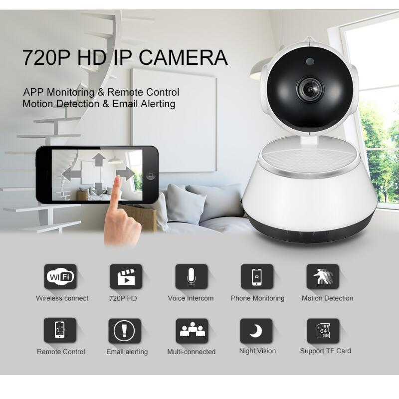 720P HD Wireless Wifi IP Camera Home Security Surveillance Camera 3.6mm Lens Wide Angle Indoor Camera Support Night Vision