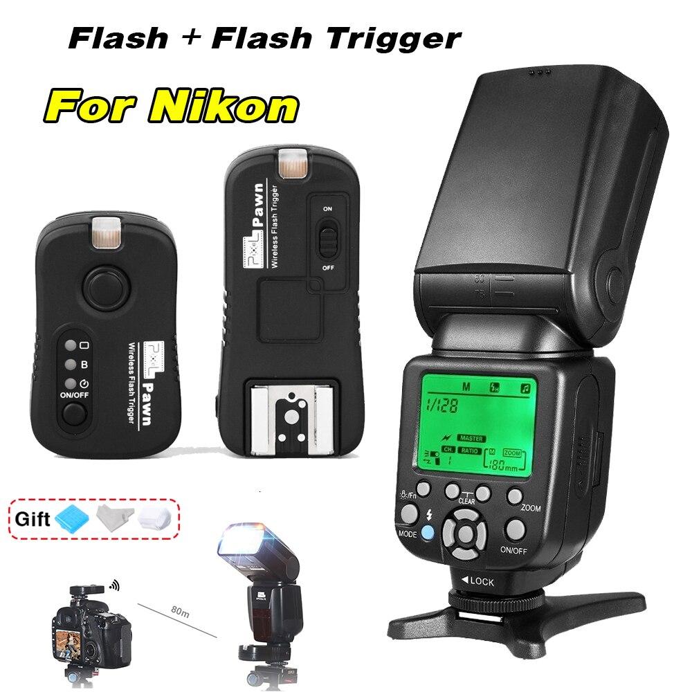 TRIOPO TR-586EX Flash Speedlite & Pixel TF-362 Flash Trigger Wireless shutter remote control For Nikon D7000 D7200 D750 D3300 meike mk d750 battery grip pack for nikon d750 dslr camera replacement mb d16 as en el15 battery